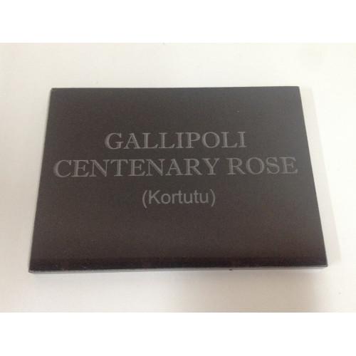 Gallipoli Centenary Rose Memorial Plaque
